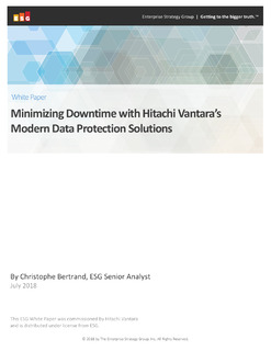 Modern Data Protection: Putting an End to Downtime with Hitachi Vantara
