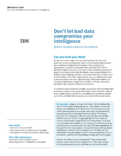 Don't let bad data compromise your intelligence