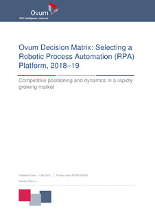 The Decision Matrix: Selecting a RPA Platform