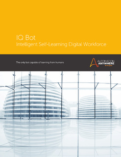 IQ Bot: Intelligent Self-Learning Digital Workforce