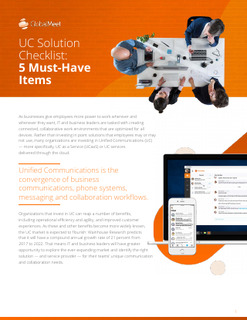 UC Solution Checklist: 5 Must-Have Items