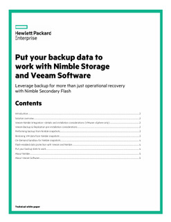 Put your backup data to work with Nimble Storage and Veeam Software
