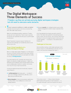The Digital Workspace: Three Elements of Success