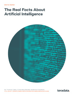 The Real Facts About Artificial Intelligence
