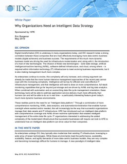 IDC Paper: Why Organizations Need an Intelligent Data Strategy