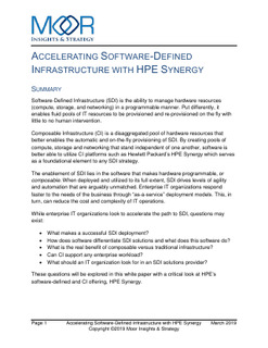 Moor Insights: How to have a successful software defined infrastructure deployment