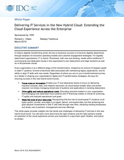 Extending the Cloud Experience