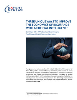 3 Unique Ways to Improve the Economics of Insurance with Artificial Intelligence