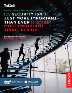 I.T. SECURITY ISN'T JUST MORE IMPORTANT THAN EVER IT'S THE MOST IMPORTANT THING, PERIOD.