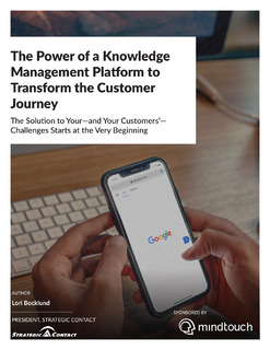 The Power of a Knowledge Management Platform to Transform the Customer Journey