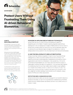 Protect Users Without Frustrating Them Using AI-driven Behavioral Biometrics