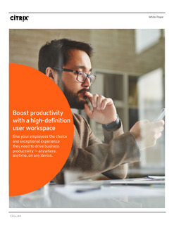 Boost productivity with a high-definition user workspace