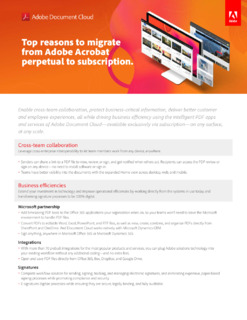 Top Reasons to Migrate from Adobe Acrobat Perpetual to Subscription