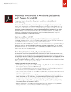 Maximize Investments in Microsoft Applications with Adobe Acrobat DC
