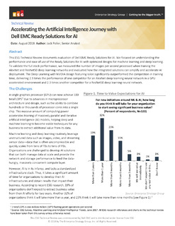 Accelerating the Artificial Intelligence Journey with Dell EMC Ready Solutions for AI