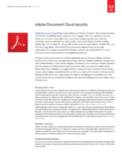 Adobe Document Cloud Security