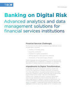 Banking on Digitally Enabled Risk