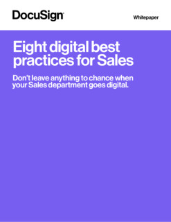8 Digital Best Practices for Sales