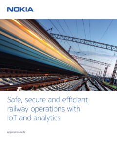 Safe, secure and efficient railway operations with IoT and analytics