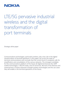 LTE/5G pervasive industrial wireless and the digital transformation of port terminals