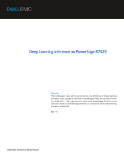 Deep Learning Inference on PowerEdge R7425