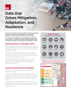 Data that Drives Mitigation, Adaptation, and Resilience