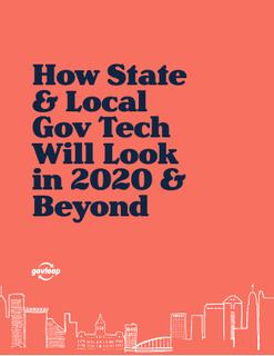 GovLoop State and Local Tech in 2020