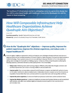 How Will Composable Infrastructure Help Healthcare Organizations Achieve Quadruple Aim Objectives?