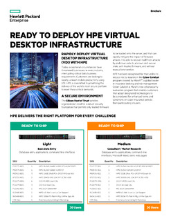 Ready to deploy HPE Virtual Desktop Infrastructure