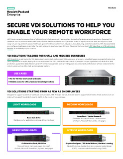 Secure VDI solutions to help you enable your remote workforce brochure