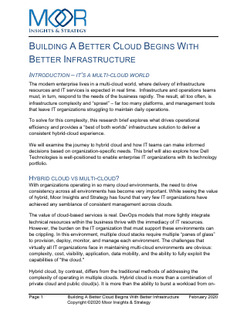 Building a Better Cloud Begins with Better Infrastructure