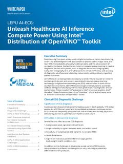 Unleashing Healthcare AI Inference Compute Power Using Intel® Distribution of OpenVINO™ Toolkit