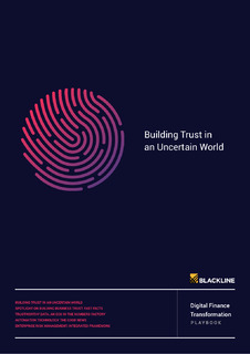 Building Trust in an Uncertain World