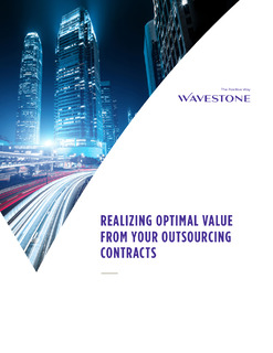 Realizing Optimal Value from Your Outsourcing Contracts