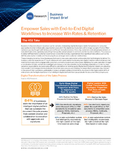 451 Research – Empower Sales with End-to-End Digital Workflows to Increase Win Rates & Retention