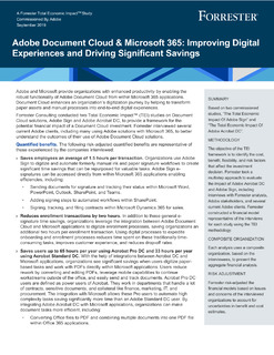 Adobe Document Cloud & Microsoft 365: Improving Digital Experiences and Driving Significant Savings