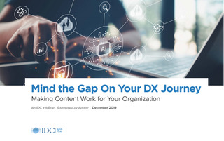 Mind the Gap On Your DX Journey | Making Content Work for Your Organization