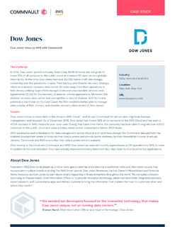 Dow Jones' moves to AWS with Commvault