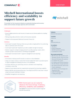 Mitchell International boosts efficiency and scalability to support future growth