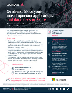 Go ahead. Move your most important applications and databases to Azure