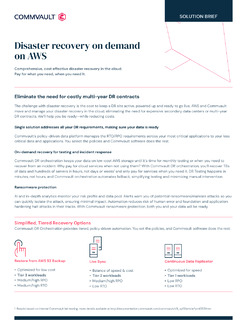 Disaster recovery on demand on AWS