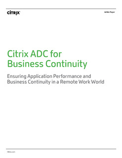 Citrix ADC for Business Continuity