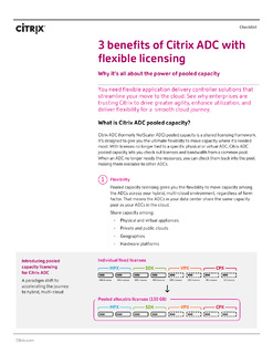 Checklist: Top 3 benefits of Citrix ADC with flexible licensing