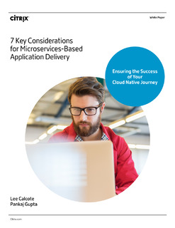7 Key Considerations for Microservices-Based Application Delivery