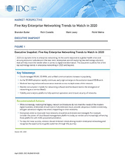 IDC Report: 5 Key Enterprise Networking Trends to Watch in 2020