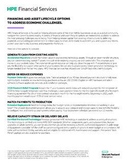 Data Brief: Solutions for Economic Challenges