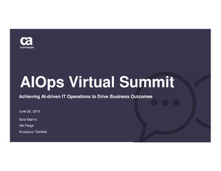 AI Ops Virtual Summit
