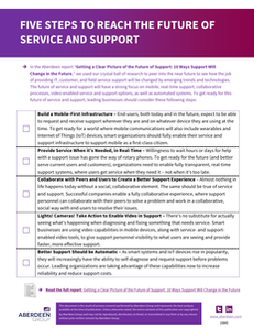 Five Steps to Reach the Future of Service and Support