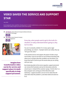 Video Saved the Service and Support Star