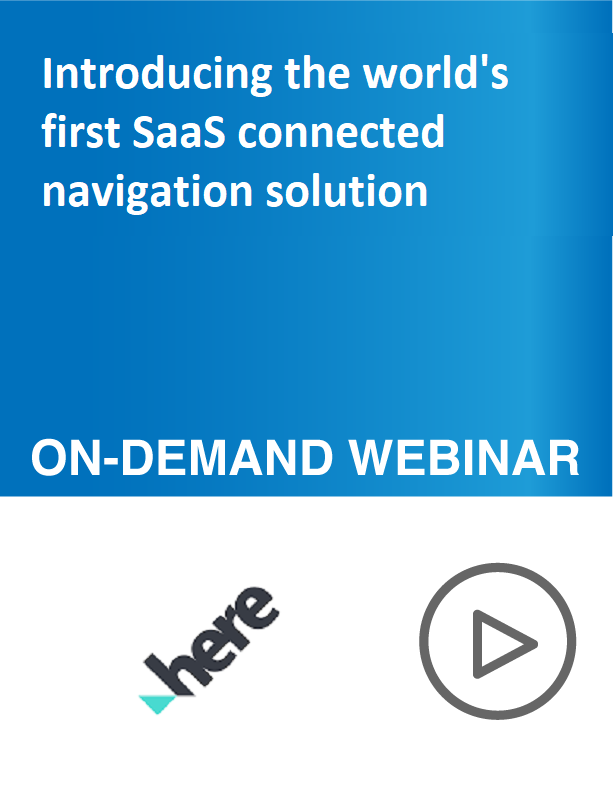 Introducing the world's first SaaS connected navigation solution